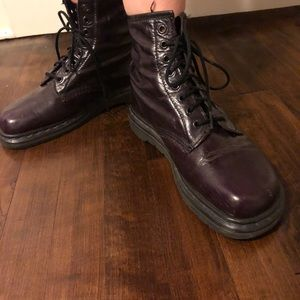 Deep purple Doc Martin boots